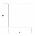 Inserto a lamelle quadrato cromato