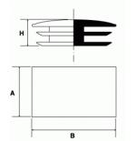 Inserto a lamelle rettangolare cromato
