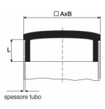 Inserto rettangolare in ABS cromato
