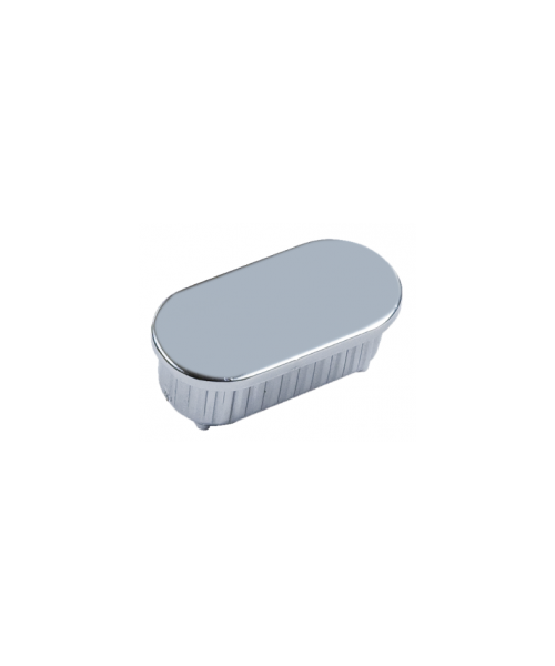 Inserto ovale in ABS cromato