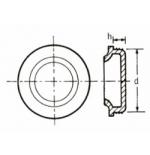 Sottotappo cilindrico con bordo