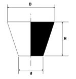 Tronchetto conico in silicone