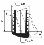 Inserto a lamelle ovale con angolo variabile
