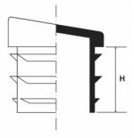 Inserto a lamelle rettangolare inclinato