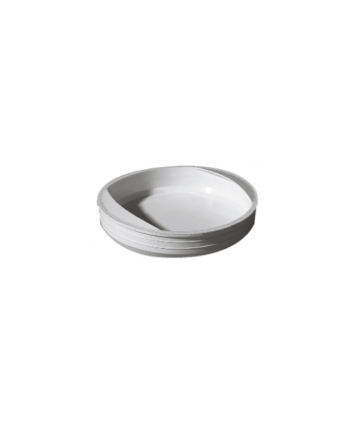 6 - Sottotappo cilindrico con presa Bianco