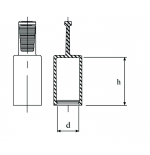 Cappellotto per tubi idraulici in TPE